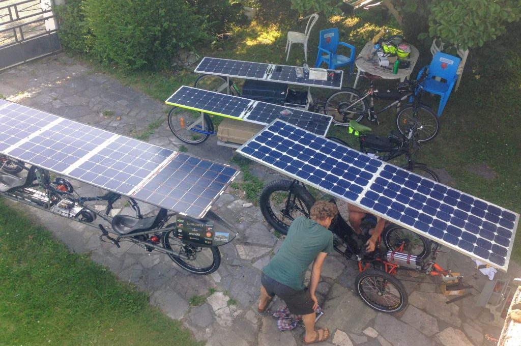 Différence de surfaces de panneaux solaires