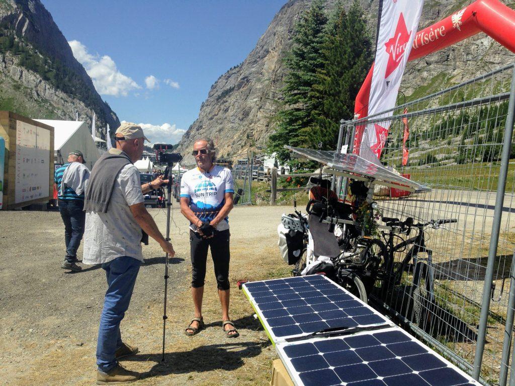 Sun Trip Tour 2019, interview Alain, Val d'Isère, leplusbeauvoyage.com