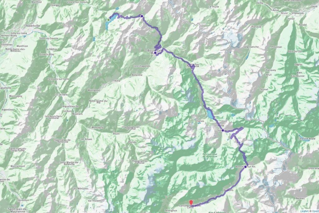 Sun Trip Tour 2019, parcours entre Roselend et Lanslebourg via l'Iseran, leplusbeauvoyage.com