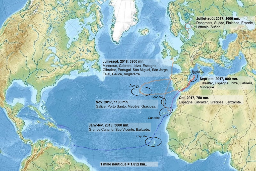 traverser l'atlantique à la voile. leplusbeauvoyage.com